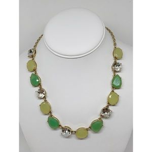 J. Crew Yellow Green Crystal Necklace